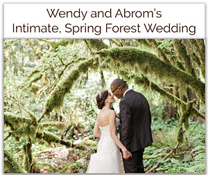 Wendy and Abrom's Intimate Spring Forest Wedding